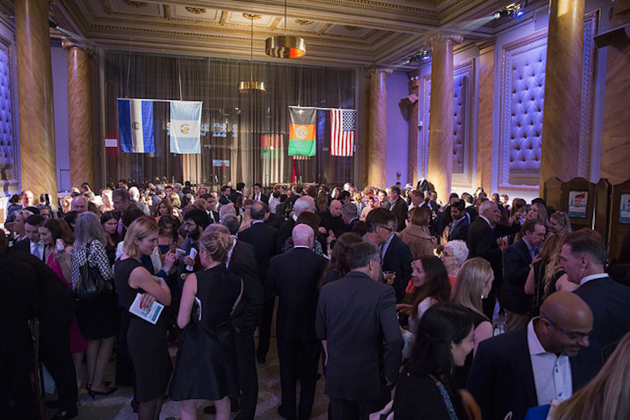 Gala cocktail crowd