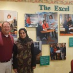 Latifa (right) with Brian Miller (left) of Excel Kitchens.