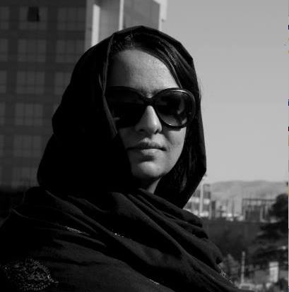 Female Afghan filmmaker and Bpeace Fast Runner Alka Sadat.